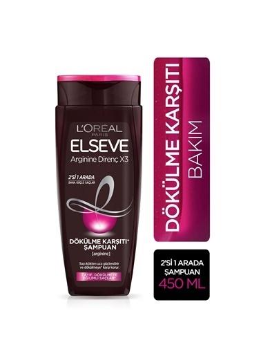 L'Oréal Paris L'Oréal Paris Elseve Arginine Direnç X3 Dökülme Karşıtı Şampuan 2'si 1 Arada 450 ml Renksiz